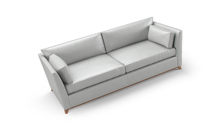 Roller leather sleeper sofa by joybird - Sofa roller ...