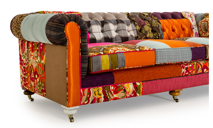 liam patchwork sofa by joybird. Black Bedroom Furniture Sets. Home Design Ideas
