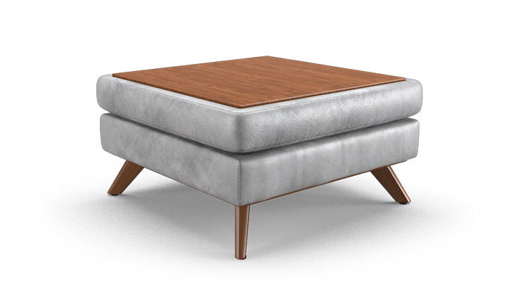 Baxter Leather Table Top Ottoman