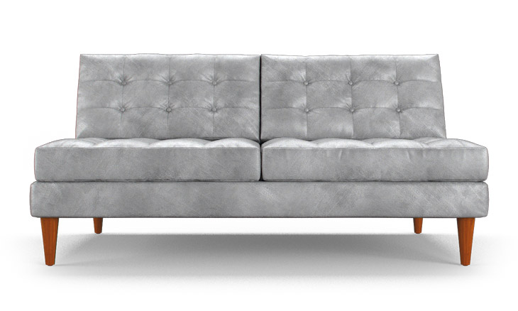 Eliot Leather Armless Loveseat By Joybird