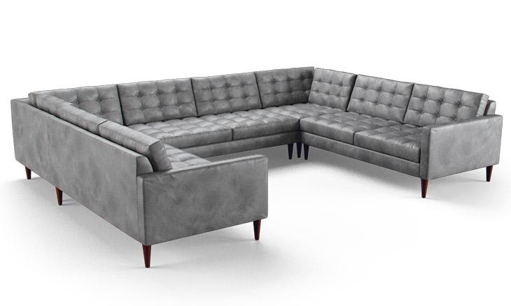 Eliot Leather U Sofa Sectional By Joybird