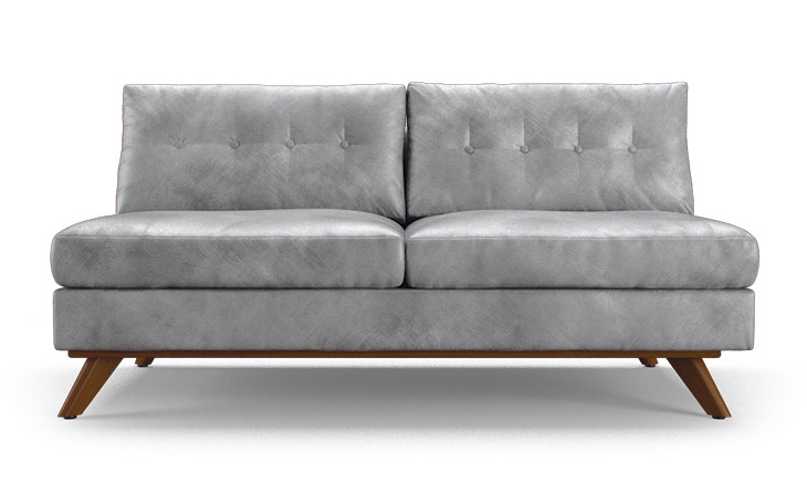 Hopson Leather Armless Loveseat By Joybird