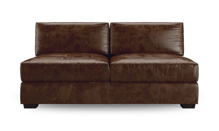 Leo Leather Armless Loveseat By Joybird