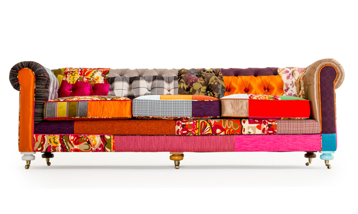 Liam Patchwork Sofa