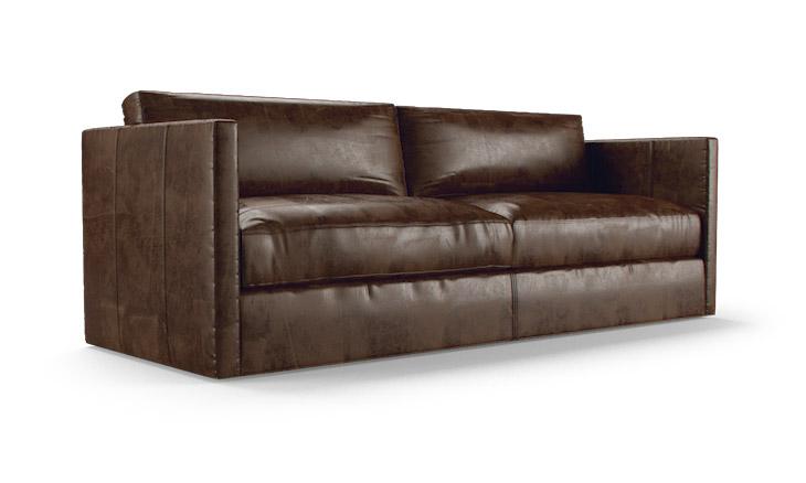 150cm wide leather sofa