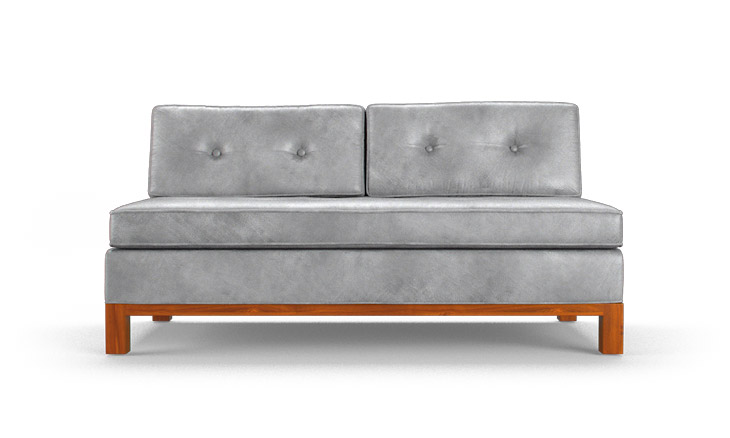 Raine Leather Armless Loveseat By Joybird