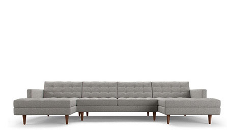 Lincoln U-Chaise Sectional (3 piece)