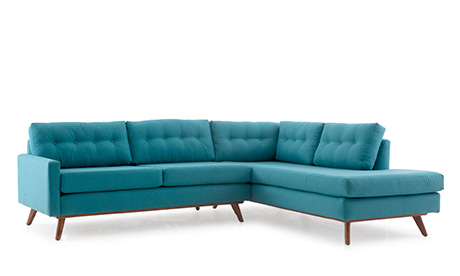 Baxter Sectional with Bumper (2 piece)