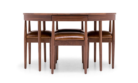 Glassel Leather Dining Set