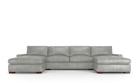 Mullholland Leather U-Chaise Sectional