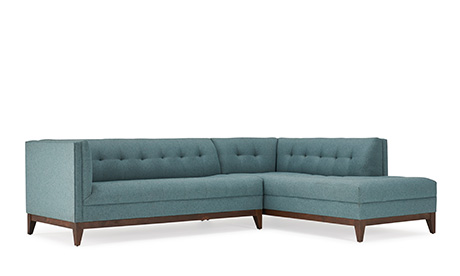 Fairfax Sectional with Bumper (2 piece)