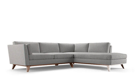 La Brea Sectional with Bumper