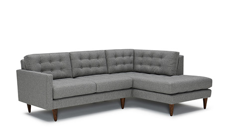 Lincoln Apartment Sectional with Bumper