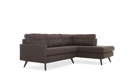 Baxter Apartment Sectional with Bumper