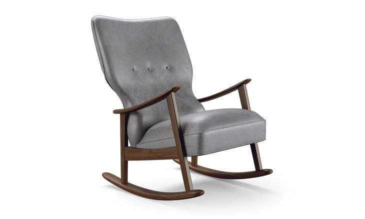 Keyser Leather Rocking Chair  Joybird