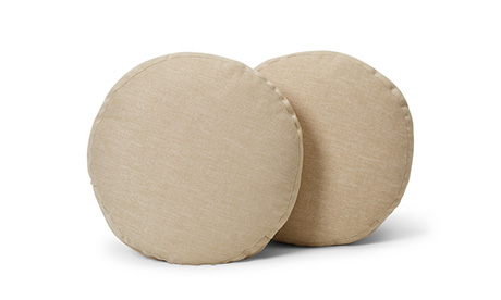 Decorative Round Pillows 16 x 16 (Set of 2)