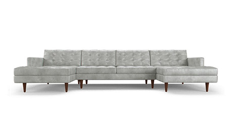 Eliot Leather Sectional With Bumper Joybird