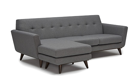 mid century modern couch. Eliot Leather Sofa; Hughes Reversible Sectional Mid Century Modern Couch