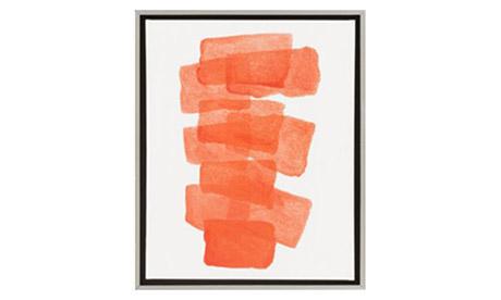 Carolyn Orange Wall Art