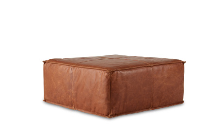 Lyle Leather Ottoman