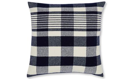 Plaid (Navy) Pillow