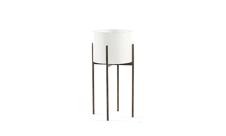 Jules Tall White Planter